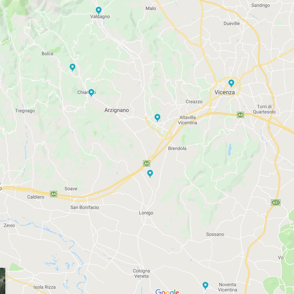 Mappa luoghi dove operiamo